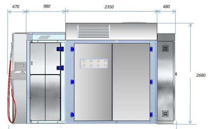 Aspro SCA-50-es moduláris CNG töltőállomás