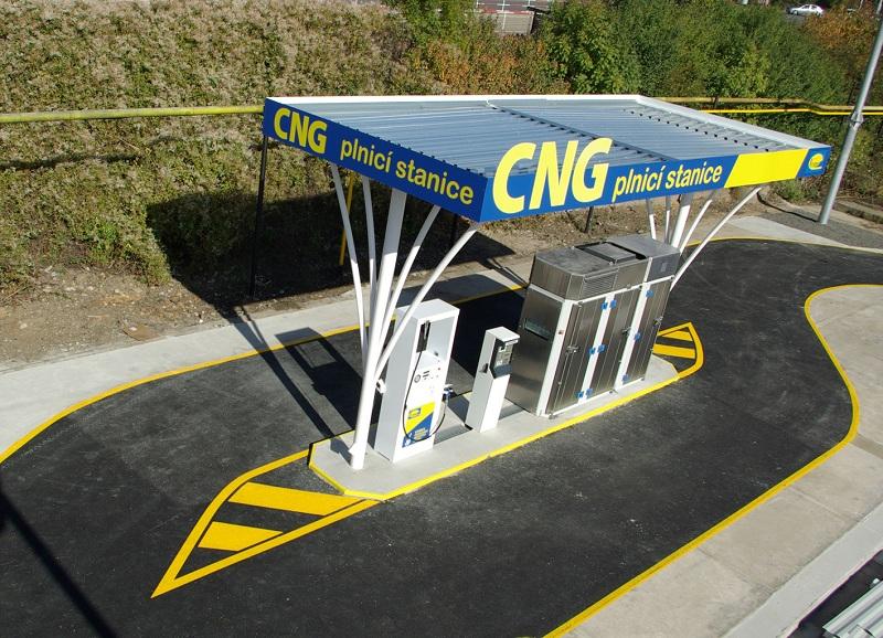 CNG töltőállomásunk Prágában, a Cernokostelecká utcában
