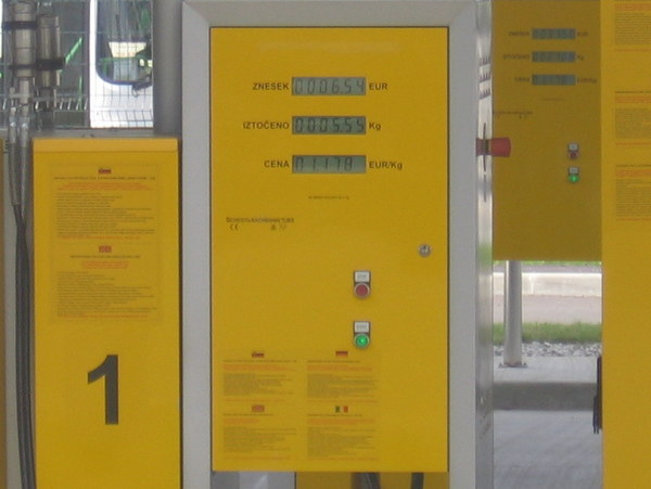 CNG árak Ljubljanában