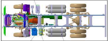 Iveco Eurocargo CNG tartály elrendezés példa
