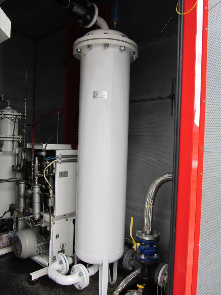 CNG tartalék kompresszor és gáz szárító