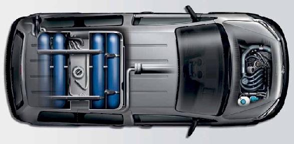 Volkswagen Caddy EcoFuel üzemanyagtartályai